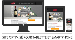www.wanted-vin.com site optimisé pour tablette et smartphone