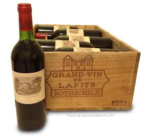 Vendre ses vins. Rachat 12 bouteilles Château Lafite Rothschild 1982 par ww.wanted-vin.com