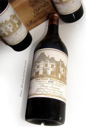 vendre son vin en ligne - bouteilles Haut Brion 2000 © Wanted-vin