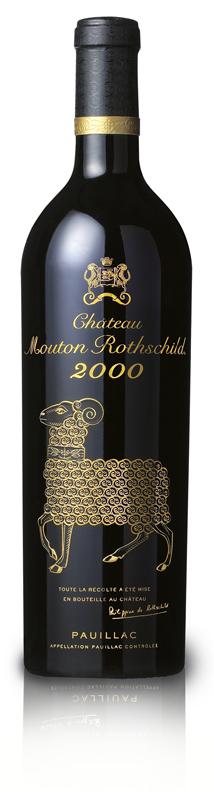 Vendre mes vins sur internet. Bouteille Mouton Rothschild 2000.