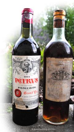 Château Pétrus de 1951. Estimation gratuite vieux vins à vendre rachat bouteilles