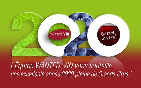L'équipe Wanted-vin vous souhaite une excellente année 2020 !